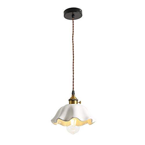 Ceramic Chandelier American Style Brass lamp Head Ceramic Personality Simple Table bar Single Head Bedroom Bedside Lighting