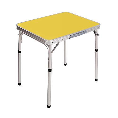 Zhangmeiren Outdoor Folding Table Portable Aluminum Picnic Simple Table Home Table Color  Yellow