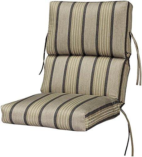 Bullnose High back Outdoor Chair Cushion 4Hx22Wx45D PEBBLE SUNBRELLA