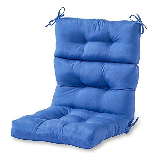 Greendale Home Fashions Indooroutdoor High Back Chair Cushion Marine Blue