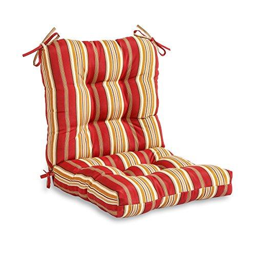 Greendale Home Fashions Indooroutdoor Seatback Chair Cushion Roma Stripe