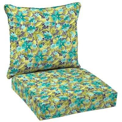 Hampton Bay Callista 2-Piece Pillow Back Outdoor Deep Seating Cushion