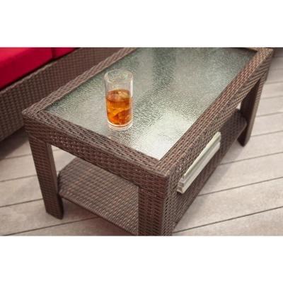 Patio Furniture Sale - Hampton Bay Patio Set - Beverly 4-piece Deep Patio Seating Set With Dragon Fruit Cushions