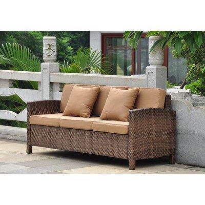 International Caravan Barcelona Resin Wicker Patio Sofa with Cushions