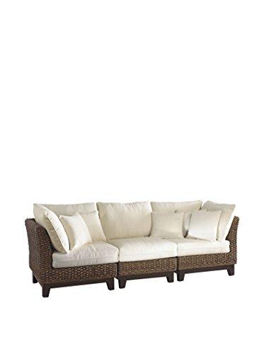 Panama Jack Sunrooms 3 PCPJS-1001-S Sanibel Sofa with Cushions Light Beige
