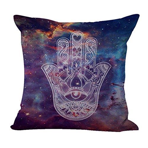 WholesaleSarong Protective Symbol Hamsa Galaxy Cushion Cover Replacement Patio Cushion Covers