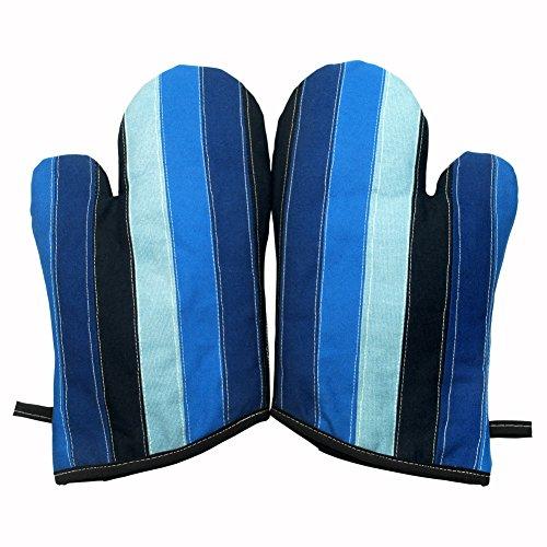 gradiente Sea Canvas Patchwork Heat Resistant Micro-oven Glovesmitts 2-pack