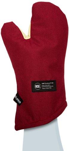 San Jamar Kt0215 Kool-tek Nomex Conventional Temperature Protection Oven Mitt 15&quot Length Red
