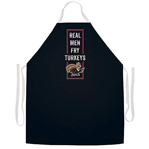 Ashasds Real Men Fry Turkeys Apron Black
