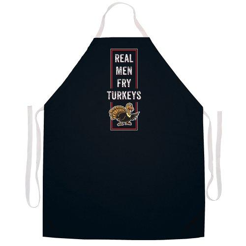 Attitude Aprons Fully Adjustable Real Men Fry Turkeys Apron Black