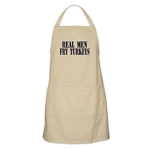 CafePress Real Men Fry Turkeys BBQ Apron Kitchen Apron with Pockets Grilling Apron Baking Apron