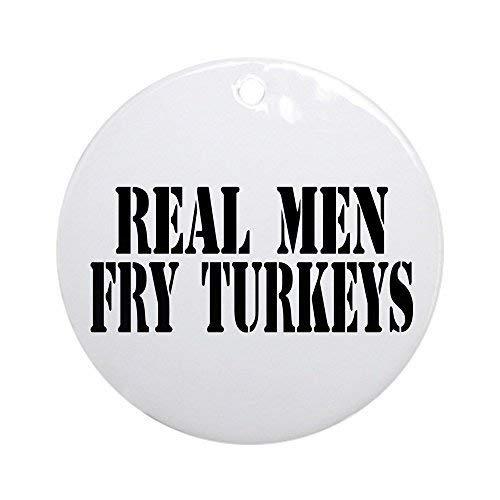 Dozili Christmas Tree Decoration Real Men Fry Turkeys 3 inch Ceramic Ornaments Merry Gifts