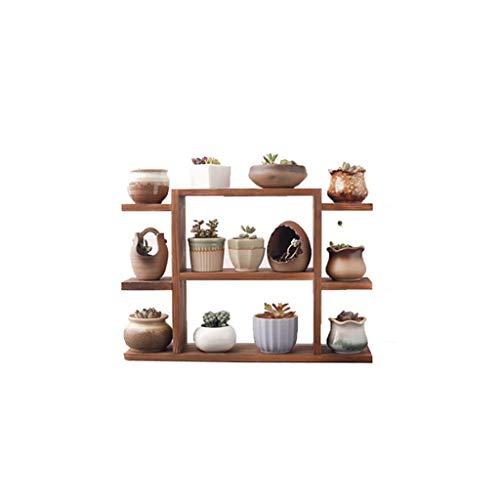 SPLY DTEM Wooden Flower Stand - Plant Display Stand - Pan Rack Storage Rack