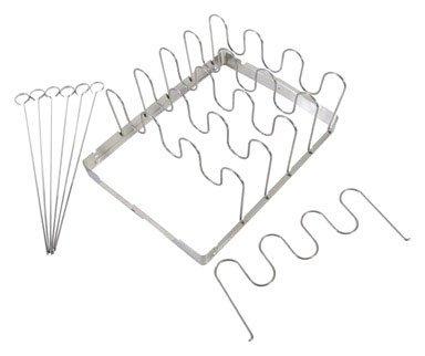 Grillmark Shish Kabob  Rib Rack Stainless Steel 10 X 13