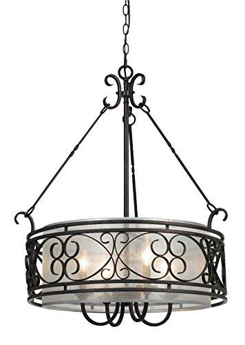 Moroccan Bronze Forged Iron Organza Drum Pendant Light Hanging Chandelier Light Ceiling Fixture 24