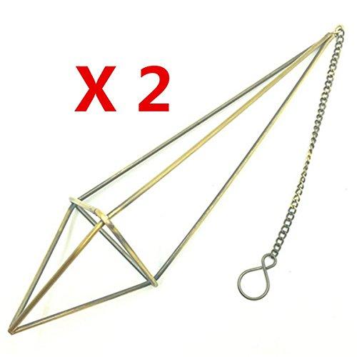 Kingbuy Freestanding Hanging Metal Tillandsia Air Plant Rack Holder Black Pyramid Shape Geometric-2pcs long triangle