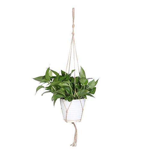 WinnerEco Macrame Plant Hanger Flower Pot Holder Indoor Outdoor Hanging Planter Basket MS02