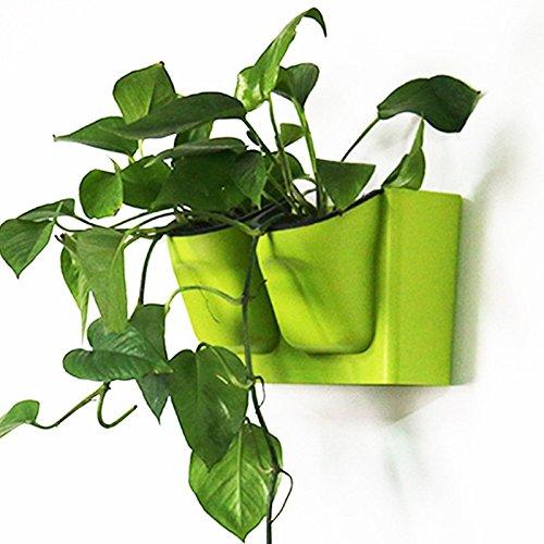 Mkono Self Watering Wall Hanging Pots Modular Plastic Planter Green