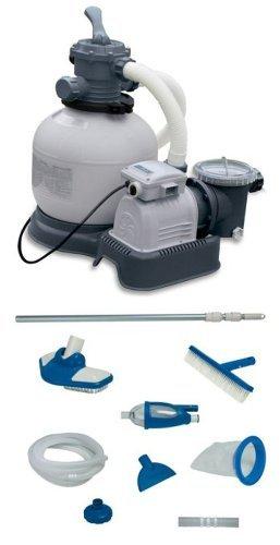 Intex Krystal Clear 2800 GPH Sand Filter Pool Pump with Maintenance Kit by Intex
