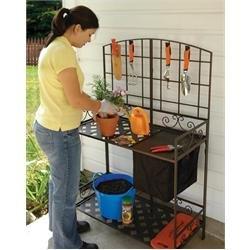 Wrought-iron Decorative Foldable Potting Bench