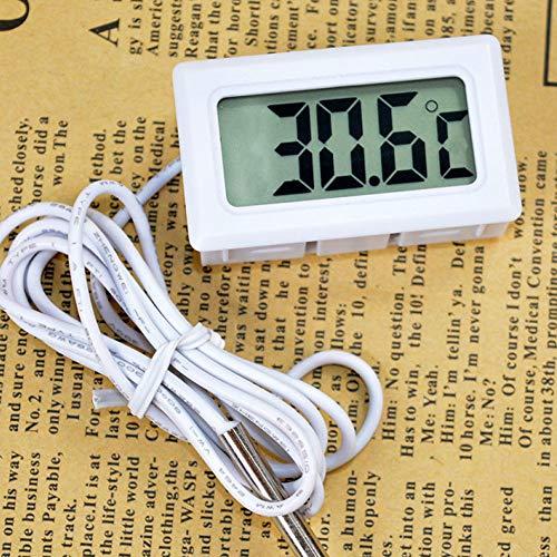 m·kvfa Celsius Digital Thermometer Temperature Detector for Aquarium Indoor Refrigerator Human Body Car CPU Heat Diffuser