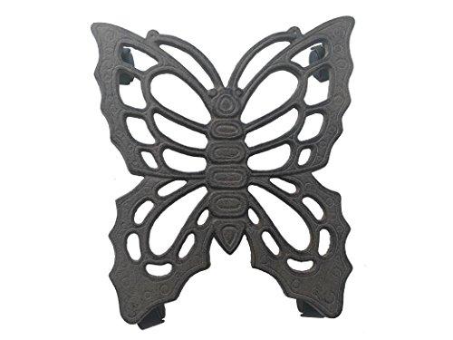 Comfy Hour Cast Iron Butterfly Garden Plant Trolley Flowerpot Holder