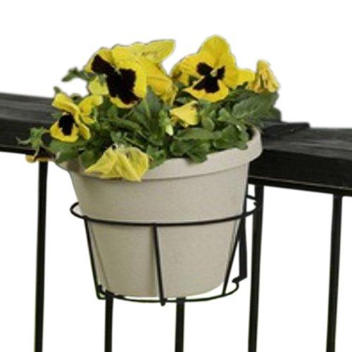 Panacea 89049 Ring Over The Deck Adjustable Flower Pot Holder Black 8-inch