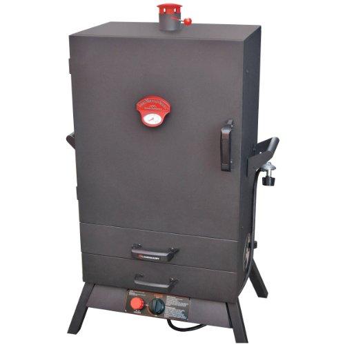 Wide 2-drawer 38 inch Vertical Gas Smoker from Landmann