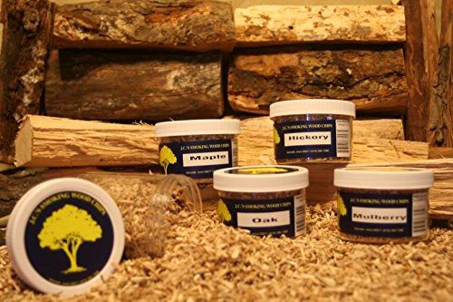 JCs Smoking Wood Products 4 Pk Variety 2 Smoking Chips Coarse Cut