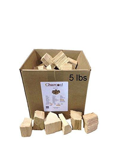 CharcoalStore Red Oak Wood Smoking Chunks - No Bark 5 Pounds