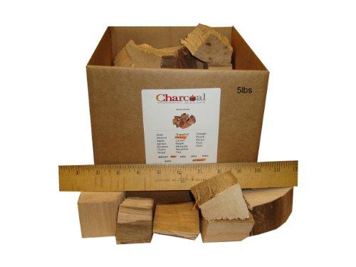 CharcoalStore Hickory Smoking Wood Chunks - Bark 10 Pounds