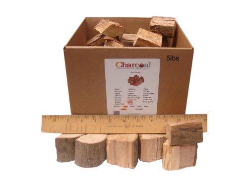 CharcoalStore Olive Smoking Wood Chunks - Bark 5 Pounds