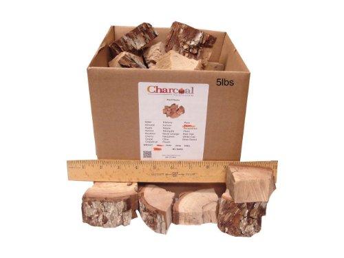 CharcoalStore Pecan Smoking Wood Chunks - Bark 5 Pounds