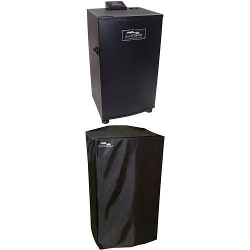 Masterbuilt 20070910 30-inch Black Electric Digital Smoker Top Controller And Cover Bundle