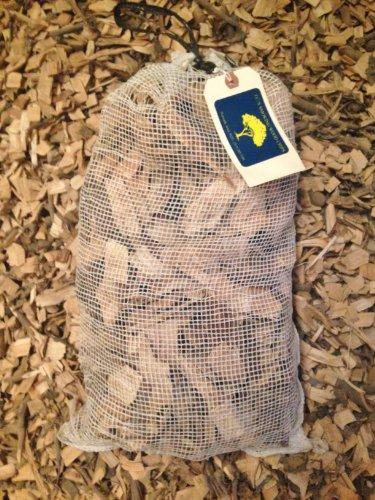 JCs Smoking Wood Chips - 525 Cu Inch Mesh Bag - Pecan