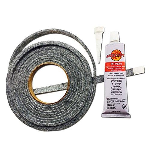 Smoker Sealer High Temp BBQ gasket adhesive smoker lid door tape GL-12 LL3R