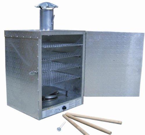 FMA Omcan Food Machinery SH001 Insulated Aluminum Electric Smokehouse 20lb Smoker