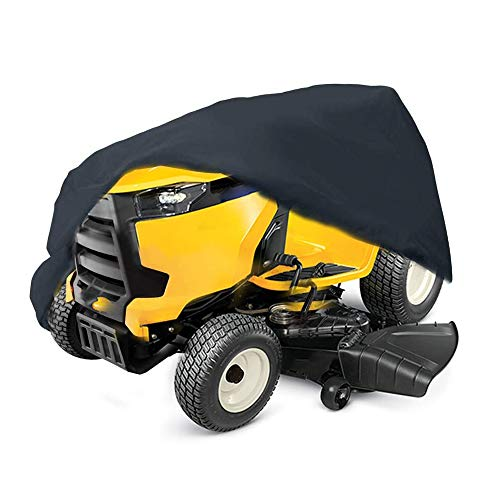 2win2buy Riding Lawn Mower Cover Waterproof Riding Lawnmower Tractor Cover Waterproof Heavy Duty Polyester UV Dust Water Proof ResistantUniversal Fit Decks up to 54 Inch