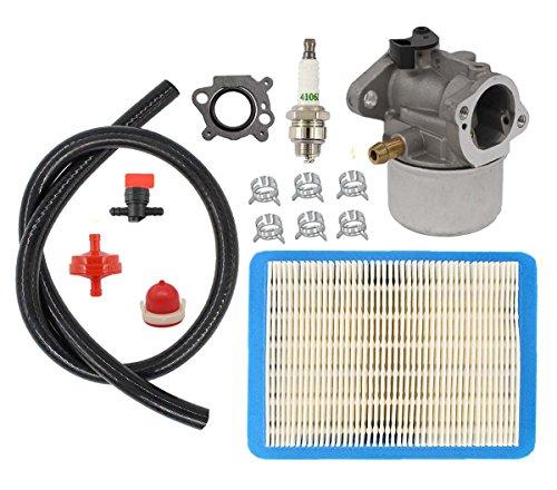 MOTOKU Carburetor Air Filter Fuel Hose Spark Plug Primer Bulb for Briggs Stratton 498170 799868 497586 498254 497314 497347 Engine Craftsman Lawn Mower Trimmer