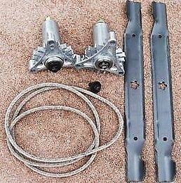 Husqvarna Craftsman 42 Riding Mower HILIFT Blades MANDRELS Belt 130794 138971 128774