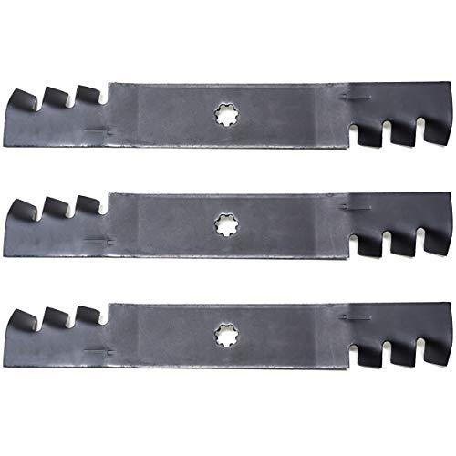 Replaces John Deere 3PK Mulching Lawn Mower Blades for 48 JD D140 D150 D160 LA130 LA140 LA145 LA155 LA165 X140 X165 145 155C GX21784 GX21786 GY20852