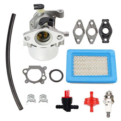 ANTO 799866 Carburetor for Briggs Stratton 794304 796707 790845 799871 Toro Craftsman Carburetor Motor Lawn Mower Part with Gaskets Spark Plug Air Filter Fuel Filter