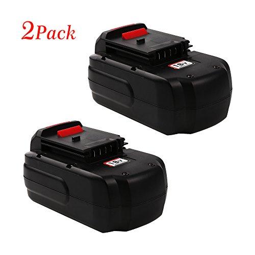 Enegitech 30Ah 18 Volt Replacement Battery for PORTER-CABLE PC18B PCC489N PCMVC PCXMVC Cordless Power Tools2 pack