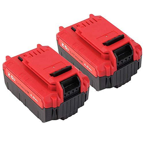 2 Pack 20V Max 60Ah Lithium PCC685L Battery Replacement for Porter Cable PCC680L PCC682L PCC685LP Cordless Tools Batteries