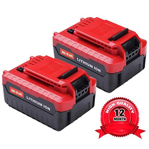 2Pack 60Ah 20V for Porter Cable Lithium Battery High Capacity Replacement Battery for Porter Cable PCC685L PCC682L PCC685LP PCC680L PCC600 PCC640