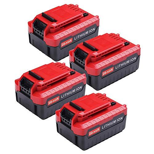 4Pack 40Ah 20V for Porter Cable Lithium Battery High Capacity Replacement Battery for Porter Cable PCC685L PCC682L PCC685LP PCC680L PCC600 PCC640