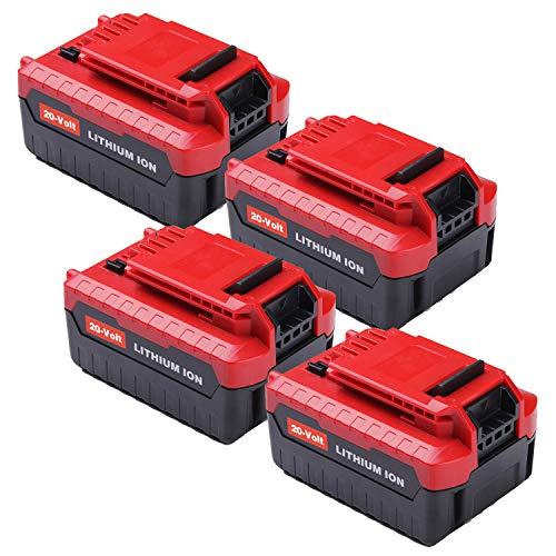 4Pack 6000mAh 20V for Porter Cable Lithium Battery High Capacity Replacement Battery for Porter Cable PCC685L PCC682L PCC685LP PCC680L PCC600 PCC640