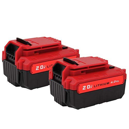 VANON 40Ah 20V Max Li-ion Rechargeable Replacement Battery for Porter Cable PCC685L PCC680L PCC682L PCC685LP 2 Pack