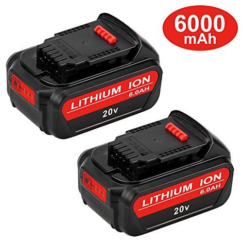 60Ah DCB205 Replacement for Dewalt 20V Battery Max XR Lithium DCB206 DCB204 DCB203 DCB200 DCB180 DCB230 DCD DCF DCG Series 2 Pack