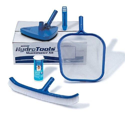 Swimline Hydro Tools 8611 Premium Pool Maintenance Kit with Test Strips Blue